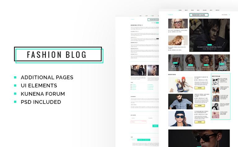 Joomla Vorlage #63409 für Mode-Blog