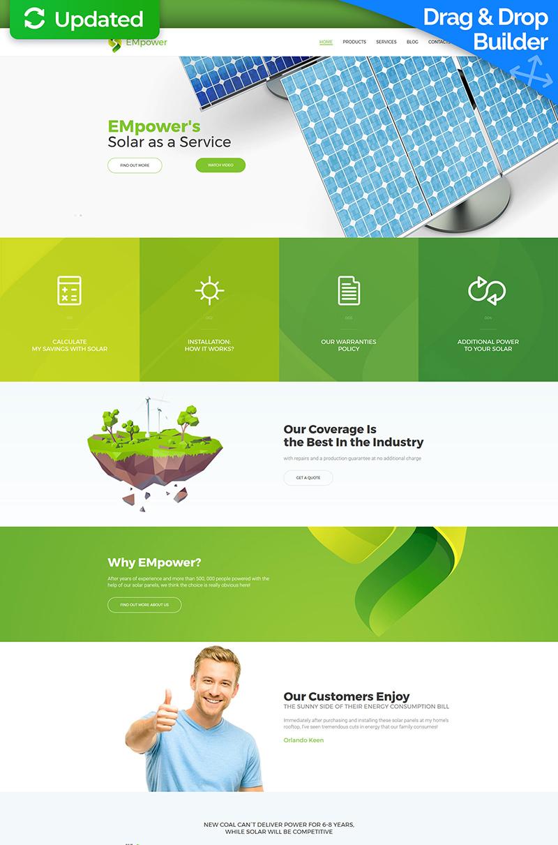 Responsives Moto CMS 3 Template für Solarenergie #63485 - Screenshot