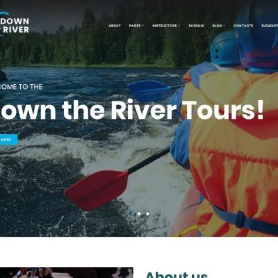 Rafting Responsive WordPress Motiv