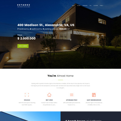 Real Estate Agency Responsive WordPress Motiv