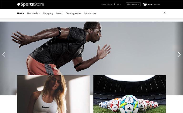 Sports Clothes Equipment X-Cart Template New Screenshots BIG