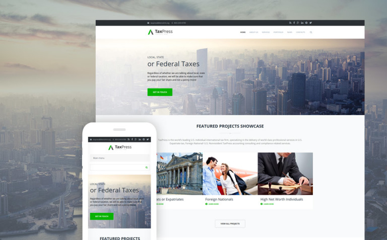 Tax advisor corporate business Drupal Template New Screenshots BIG