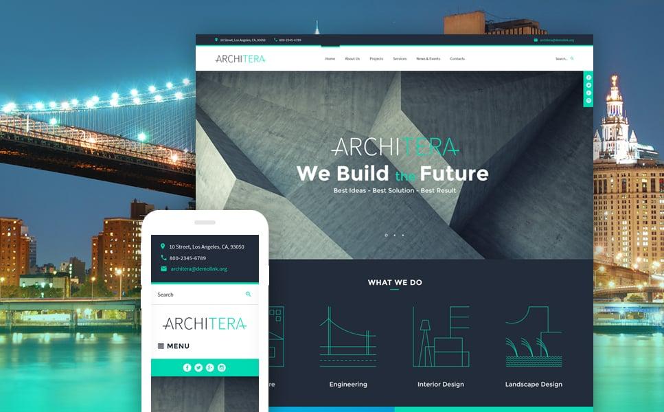 Tema de WordPress #63498 para Sitio de Arquitectura