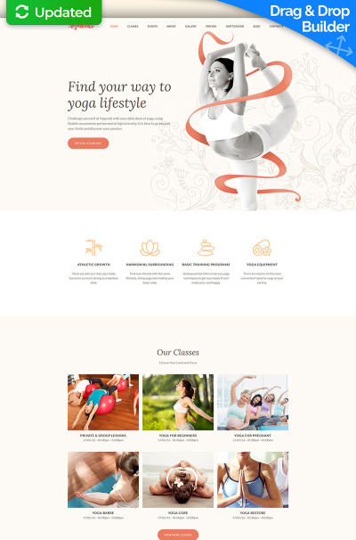 Yoga Responsive Tema Moto CMS 3