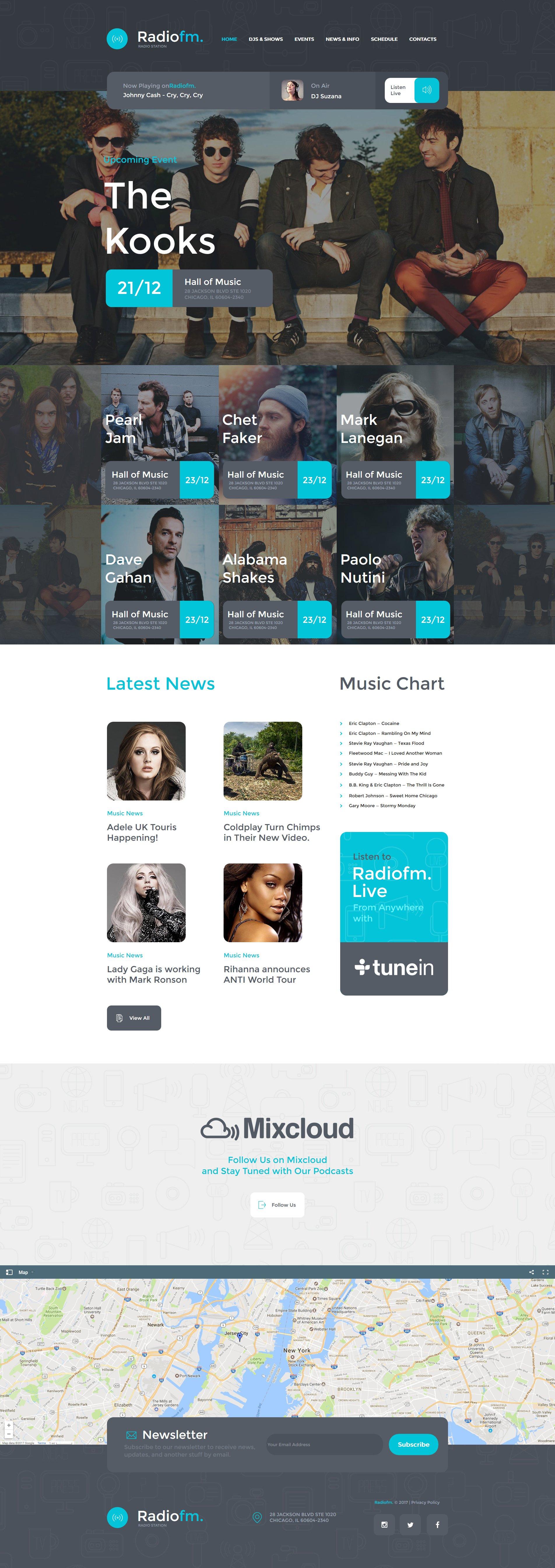 Template Moto CMS HTML para Sites de Radios №63442
