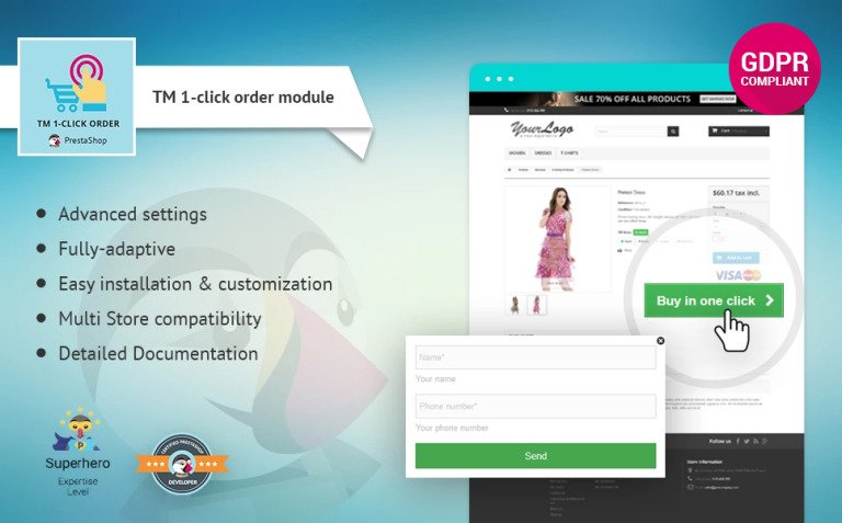 TM 1-click order PrestaShop Module New Screenshots BIG