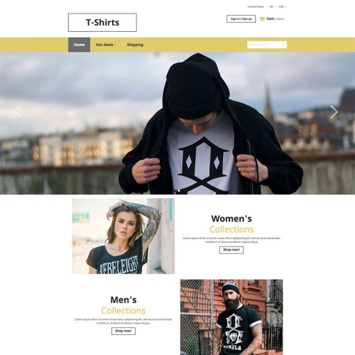 T-Shirts - HTML5 X-Cart Template