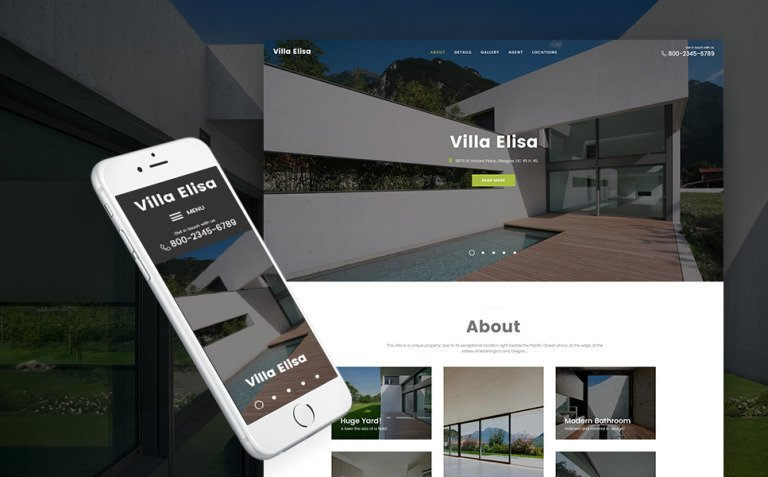 Villa Elisa - Real Estate Responsive WordPress Theme New Screenshots BIG