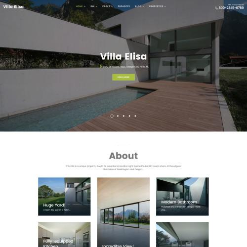 Villa Elisa - HTML5 WordPress Template