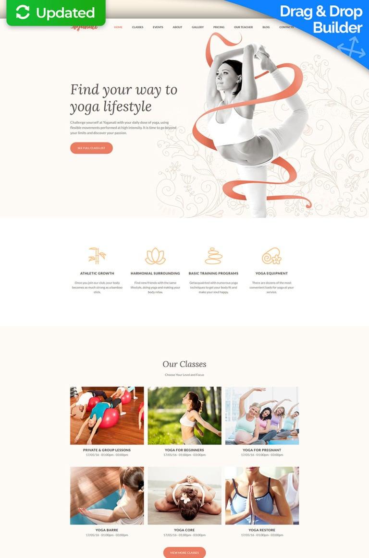 Yoganati - Premium Moto CMS 3 Template New Screenshots BIG
