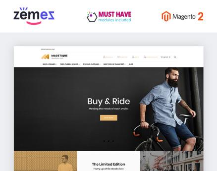 Magetique - Bikes Magento Theme