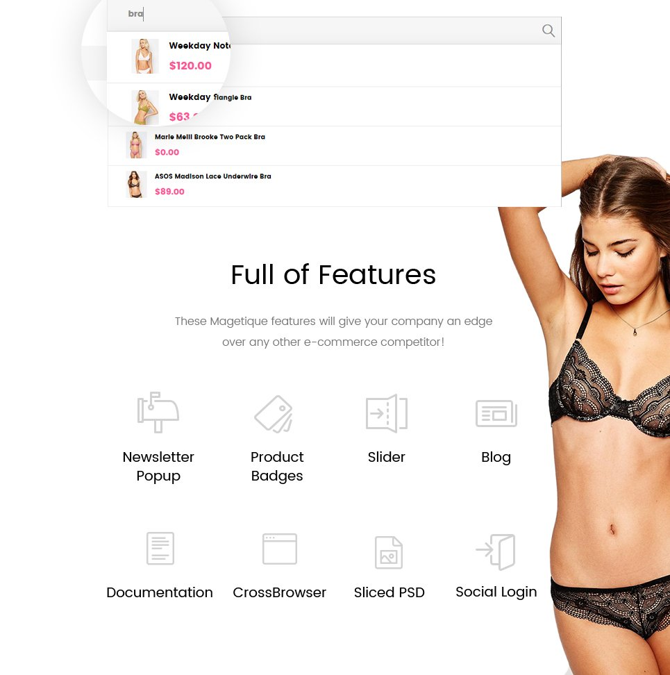 96630e3289 Beautiful Lingerie Store Magento 2 Theme