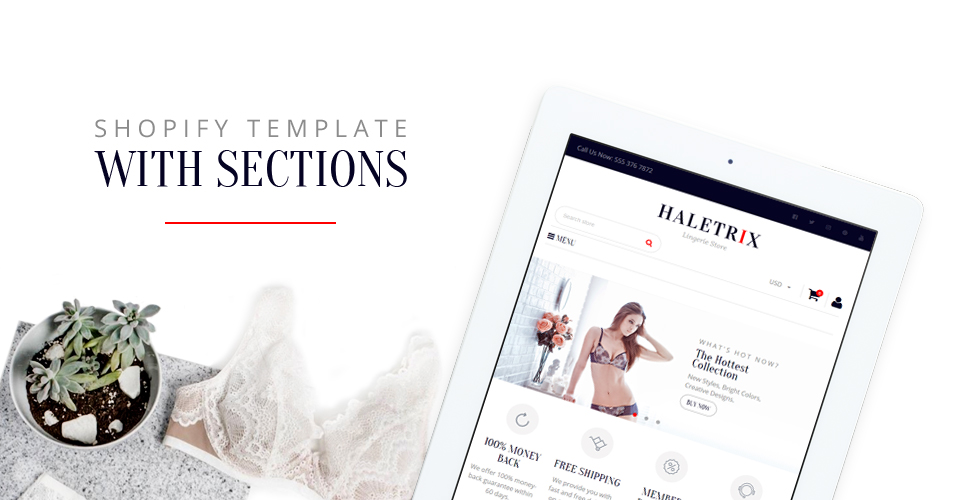 Haletrix Lingerie  Responsive Shopify  Theme