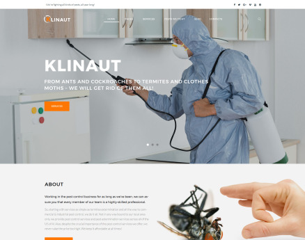 Klinaut - Pest Control WordPress Theme