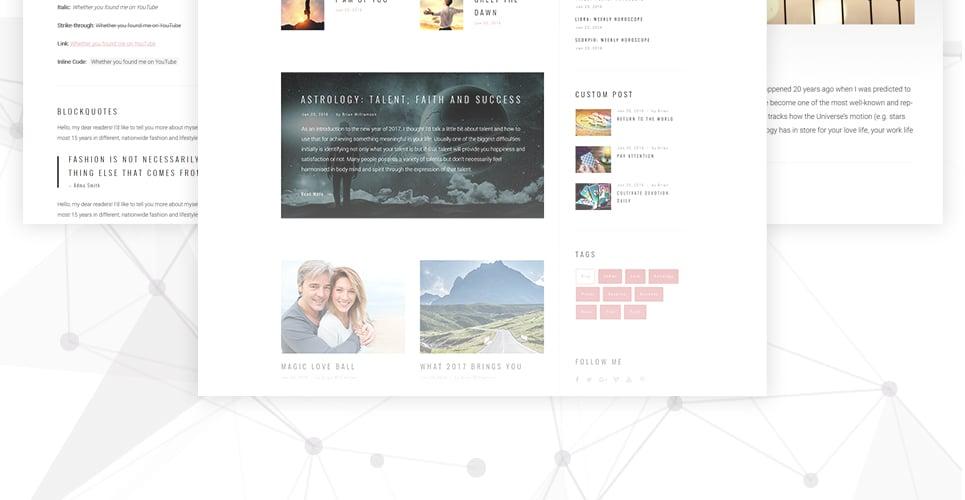 Astrology WordPress Theme