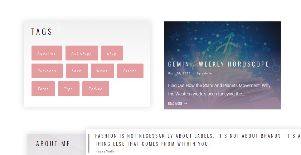 Geminiz - Astrology Blog WordPress Theme