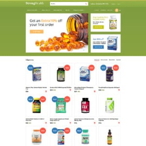 Screenshot of Drugs Store Medicine Cure Pills Tablets Pharmacy