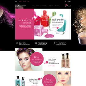 Screenshot of Cosmetics Store Beauty