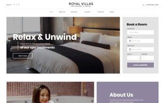 Royal Villas - Spa Resort & Hotel Responsive Multipage Website Template
