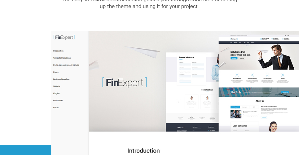 FinExpert – Financial Solutions for Business Responsive WordPress Theme
