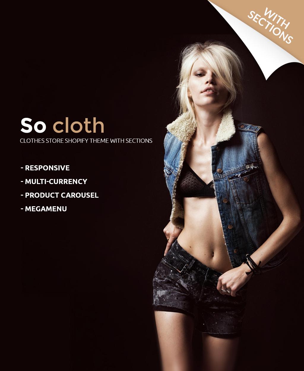 Адаптивный Shopify шаблон №63580 на тему модный магазин