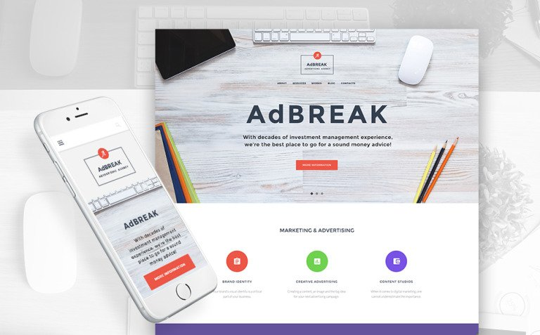 AdBreak - Advertising Company WordPress Theme New Screenshots BIG