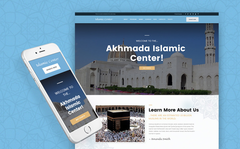 Akhmada - Islamic Center WordPress Theme New Screenshots BIG