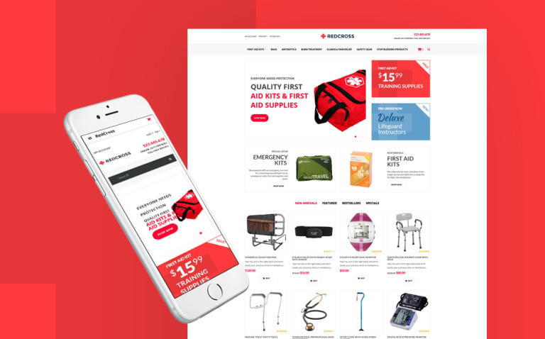 Ambulance Responsive OpenCart Template New Screenshots BIG
