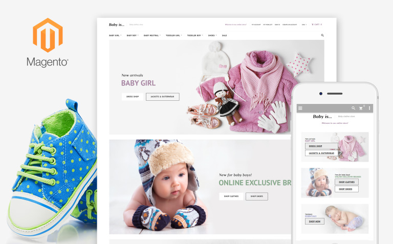 Babyis - Baby Clothes Store Responsive Magento Theme New Screenshots BIG