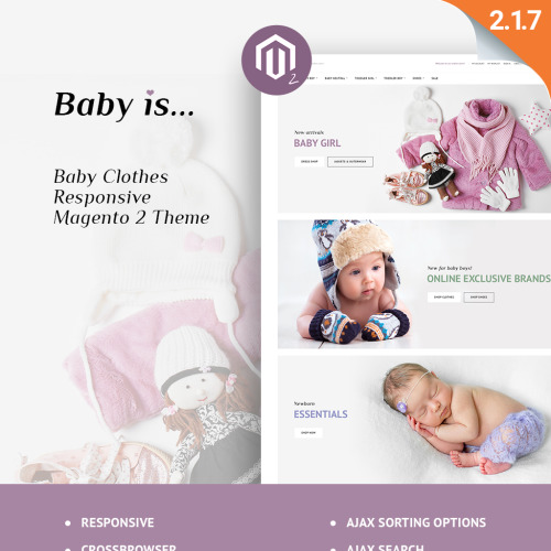 Baby Is... - HTML5 Magento Template