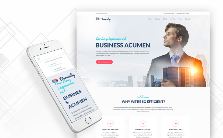 Barnaby - Consulting WordPress Theme New Screenshots BIG