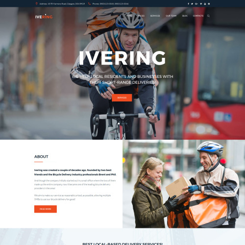 Bike Courier & Package Delivery - HTML5 WordPress Template