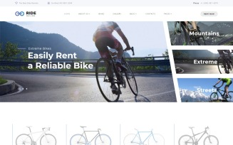 Bike Shop Responsive Website Template