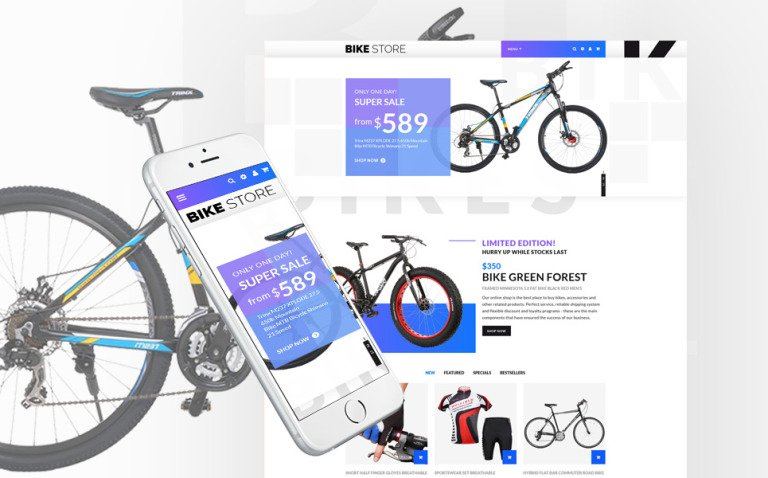 Bike Store - Bike Shop Responsive OpenCart Template New Screenshots BIG