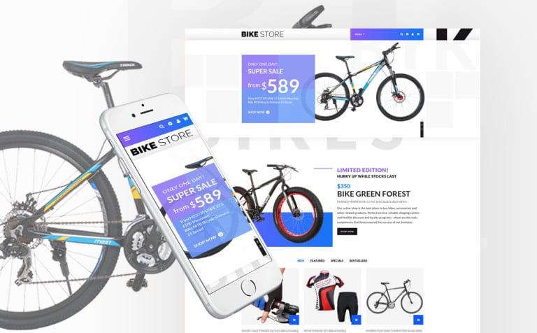 bike store online opencart template