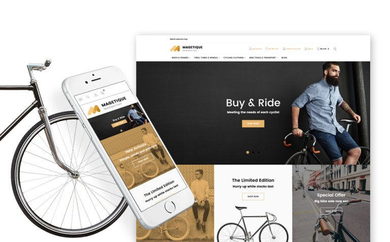 Bikes and Bike Equipment Magento Theme New Screenshots BIG