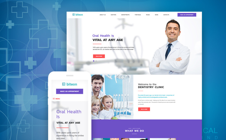 Biteon - Dentistry Clinic Responsive WordPress Theme New Screenshots BIG