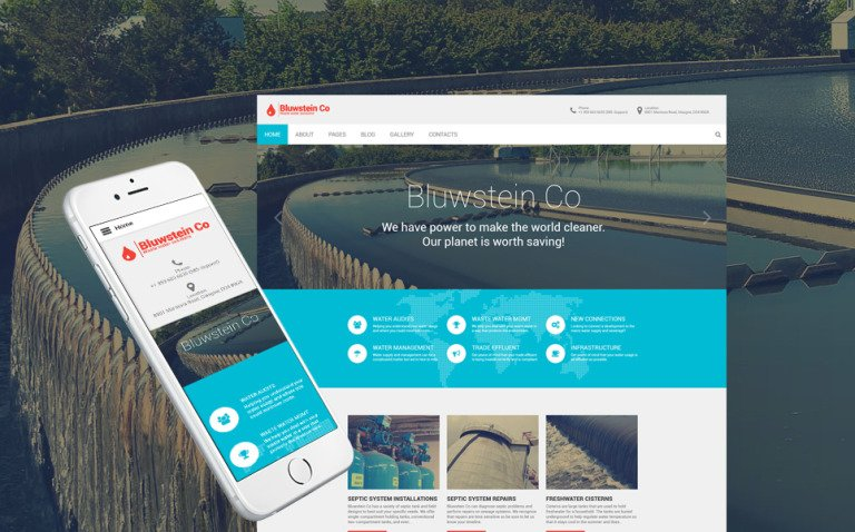 Bluwstein Co - Environmental Joomla Template New Screenshots BIG