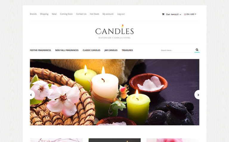 Candles X-Cart Template New Screenshots BIG