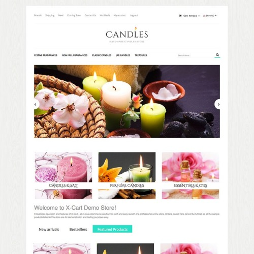 Candles - X-Cart Template based on Bootstrap