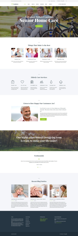 """Cared4 - Senior Care"" - адаптивний WordPress шаблон №63544"