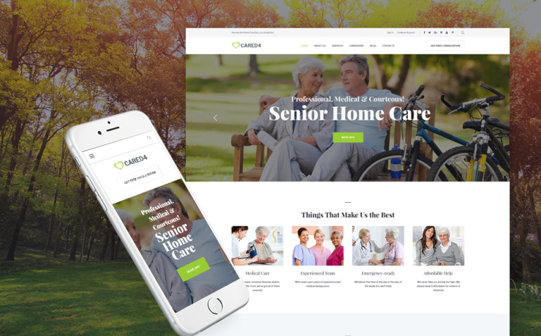 Cared4 - Senior Care WordPress Theme New Screenshots BIG