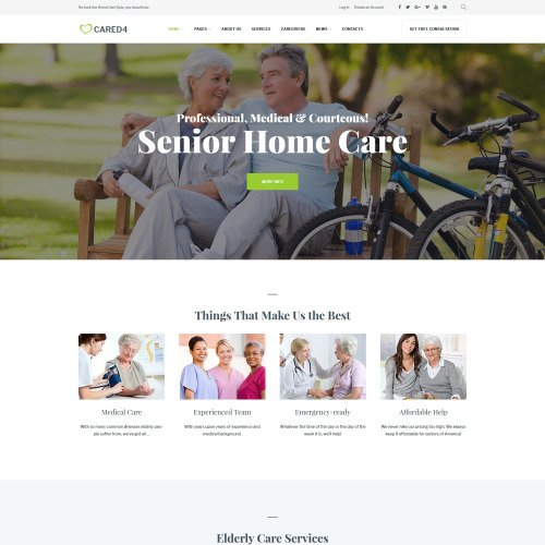 Cared4  - Responsive WordPress Template