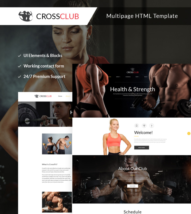 Crossclub - Bodybuilding & Crossfit Responsive Multipage Website Template