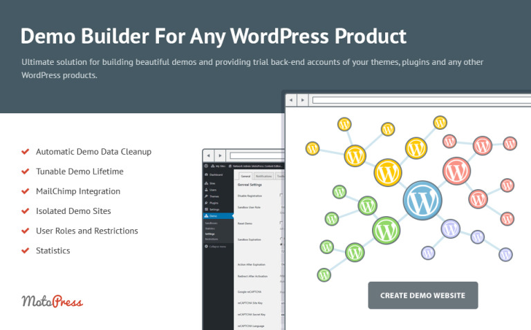 Demo Builder for any WordPress Product WordPress Plugin New Screenshots BIG