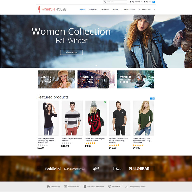 """Fashion House"" X-Cart Template №63509"
