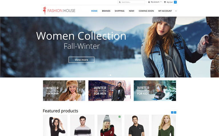 Fashion House X-Cart Template New Screenshots BIG