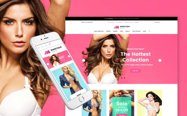 Fashion Lingerie Magento Theme New Screenshots BIG