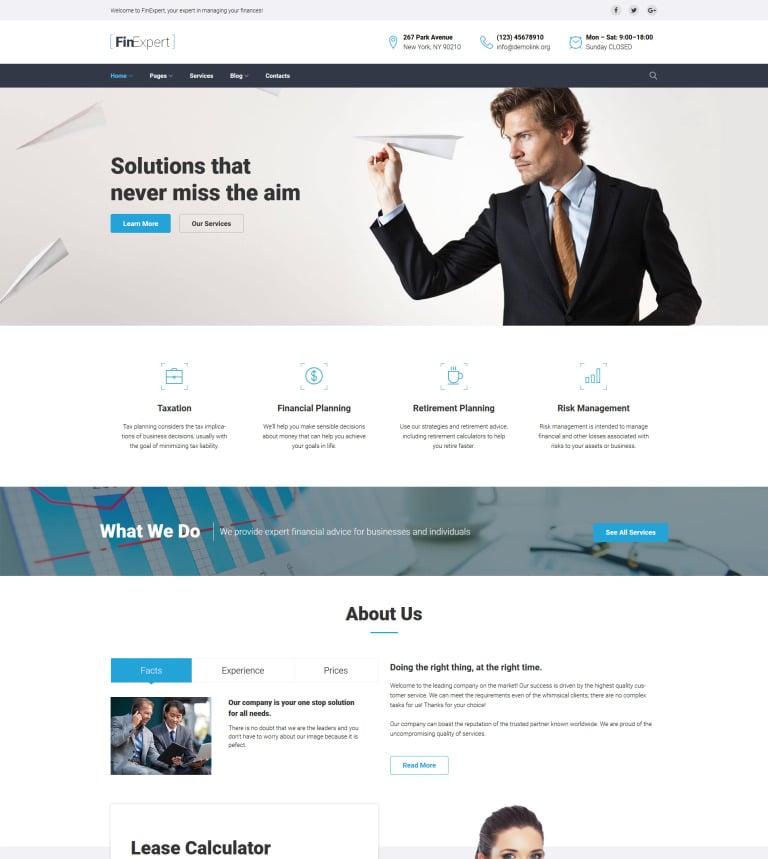 Tema de WordPress #63599 para Sitio de Asesores financieros