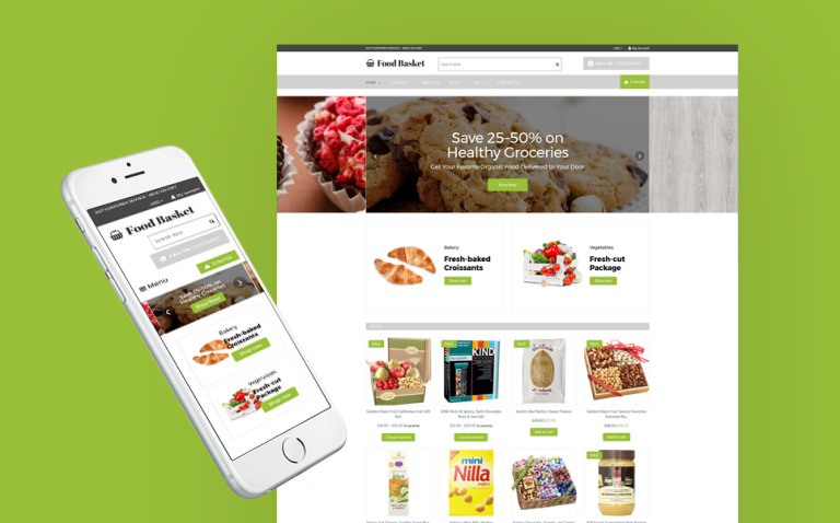 Food Basket - Food Store Shopify Theme New Screenshots BIG